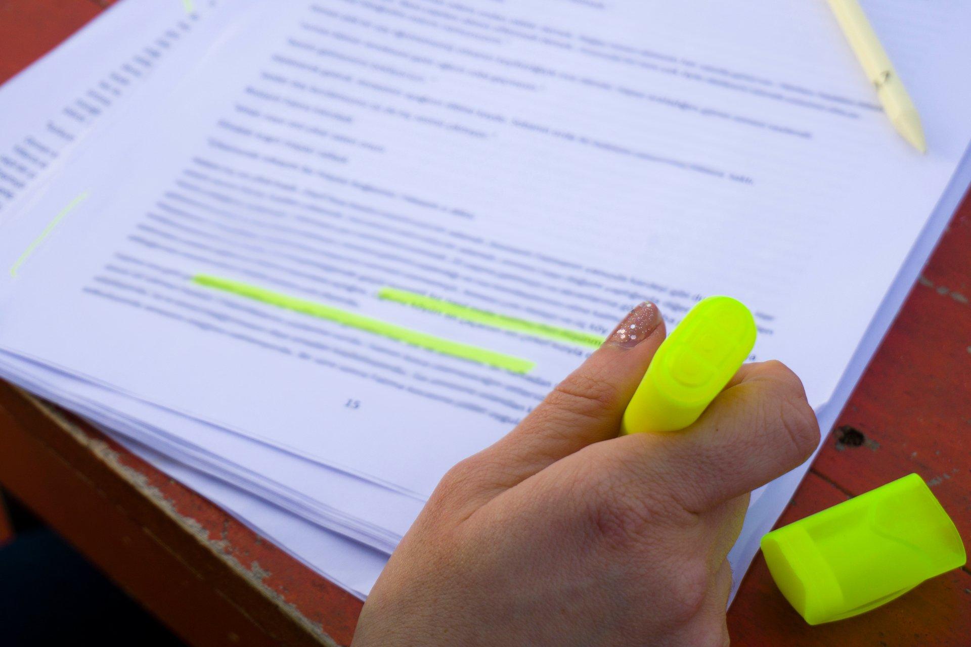 Highlighting a Script