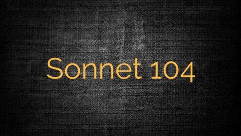 Shakespeare Sonnet 104 Modern English