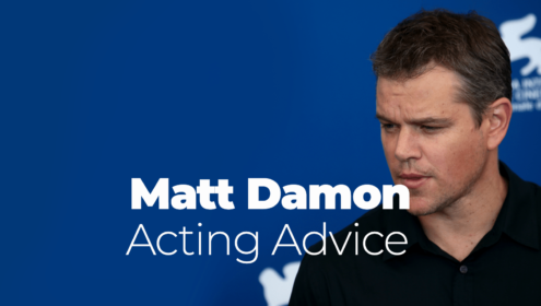 matt damons acting advice